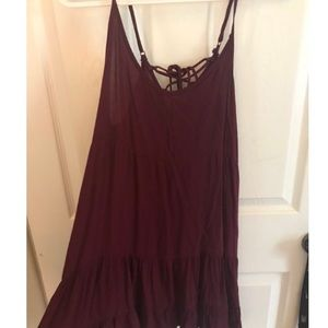 maroon sun dress